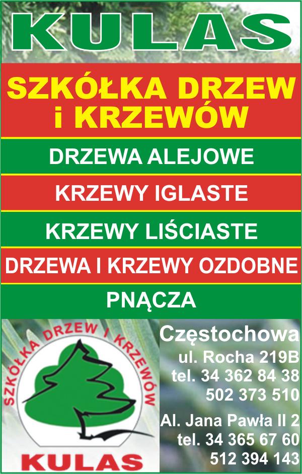 Kulas Szkółka drzew i krzewów.