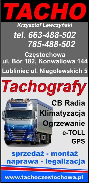 tachografy,tachgraf,legalizacja tachografów,sprzedaż tachografów,cb radia,cb radio,ogrzewanie samochodowe,gps,ograniczniki prędkości,wykresówki,tarcze,papier do tachografów,Częstochowa