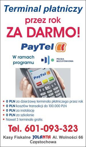 Terminal płatniczy przez rok za darmo!